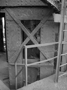 Bild 2: Oberes Kreuz zwischen den Kästen A und B der Stütze X